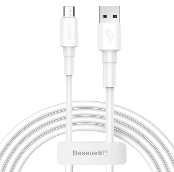 Picture of Baseus Mini White Cable USB For Micro 2.4A 1m