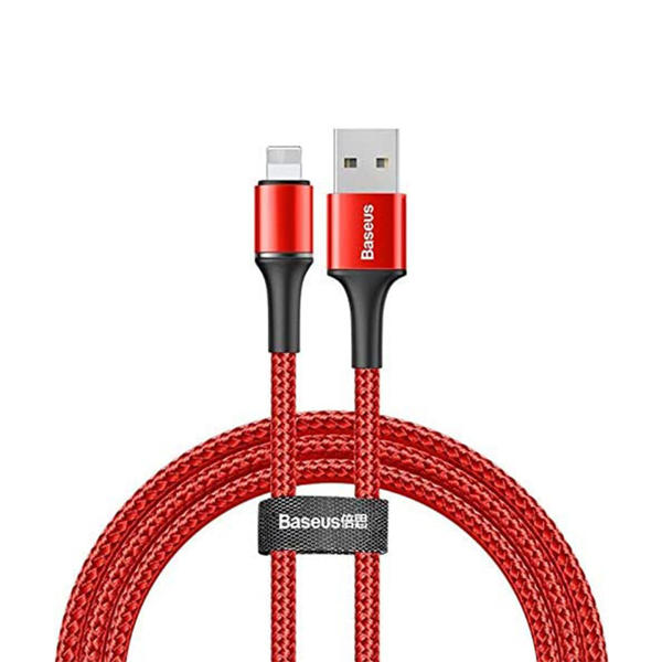Picture of Baseus Halo Data Cable Usb For Ip 2.4A 1M Red Calgh-B09