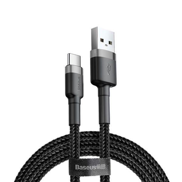 Picture of Baseus cafule Cable USB For Type-C 3A 1M Gray+Black