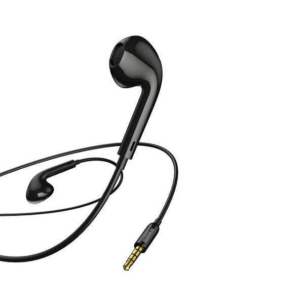 Picture of Baseus earphones, Encok H16, wired earphones 1.2m, black (NGH16-01)