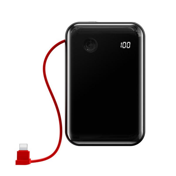 Picture of Baseus Mini S Digital Display 3A Power Bank 10000mAh with IP Cable black (PPXF-B01)