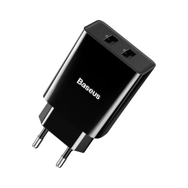 Picture of Baseus CCFS-R01 Speed Mini Dual U Charger 10.5W(EU) Black