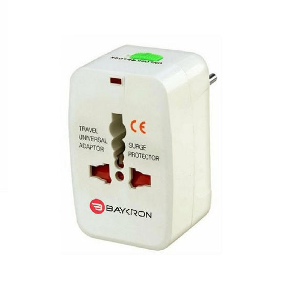 Picture of Baykron Universal world travel adapter white
