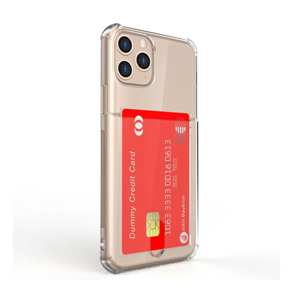 Picture of Baykron iPhone 11 Pro Max Clear Mobile Case with Credit Card Pocket