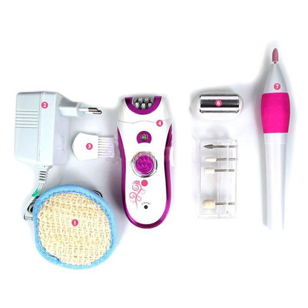 Picture of Kemei KM-3026 Epilator Hair Remover With Grinding Nail Tool For Women