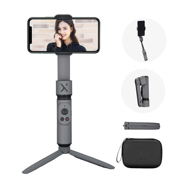 Picture of Zhiyun Smooth X Combo Kit with Mini Tripod and Pouch 2-Axis Smartphone Gimbal Stabilizer for iPhone Android Samsung, Selfie Stick, YouTube Vlog Video, Face Tracking, Bluetooth, Gesture & Zoom