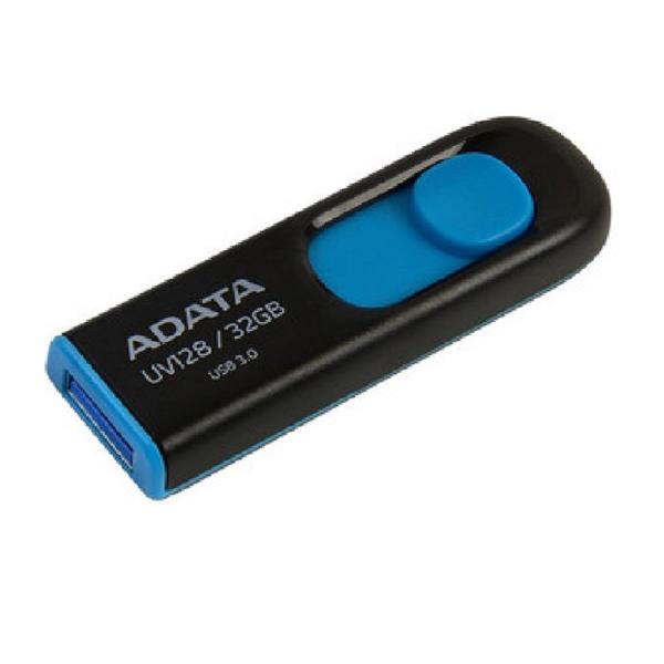 Picture of ADATA 128 GB UV128 USB 3.2 Black-Blue Pen Drive