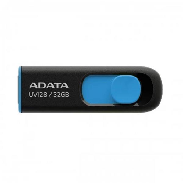 Picture of ADATA 32 GB UV128 USB 3.2 Black-Blue Pen Drive
