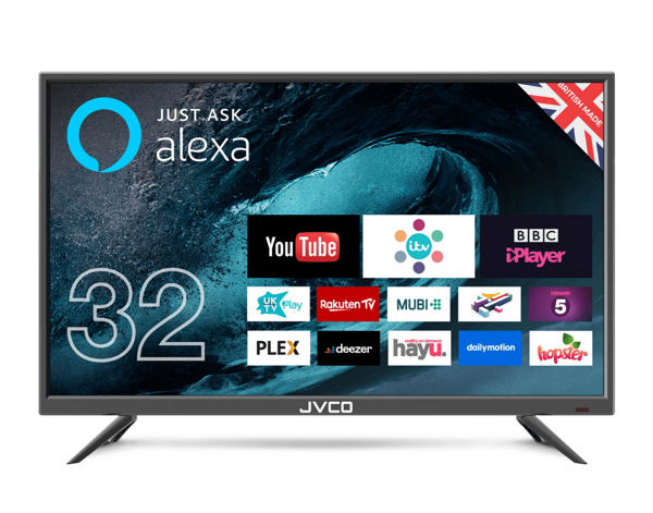 """Picture of JVCO 32"""" Double Glass Smart LED TV"""