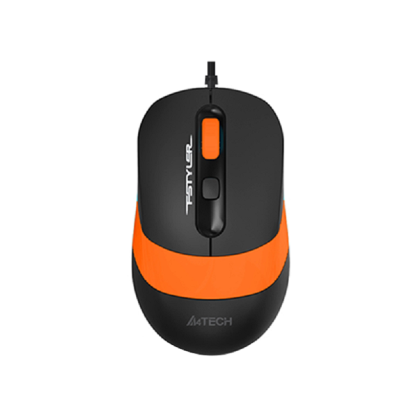 Picture of A4TECH FM10 FSTYLER WIRED OPTICAL MOUSE BLACK ORANGE