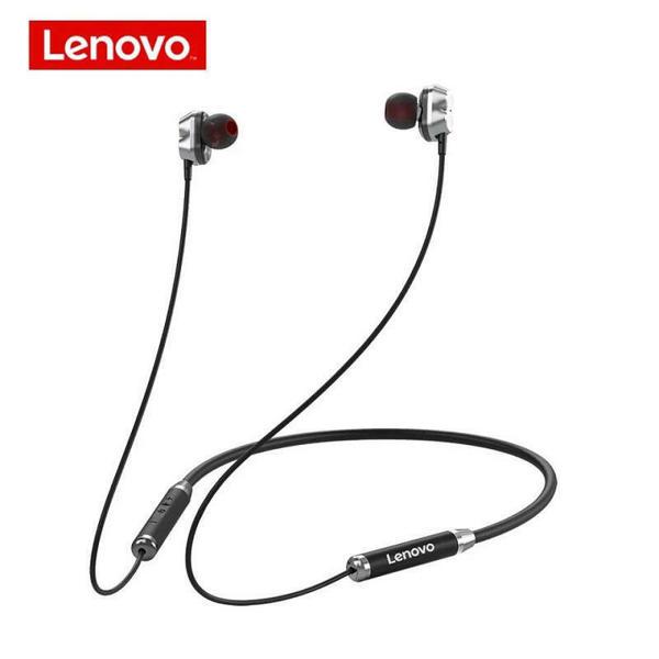 Picture of Lenovo HE08 Wireless Neckband In-Ear Headphones – Black