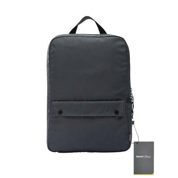 "Picture of Baseus Basics Series 16"" Computer Backpack Dark Grey"