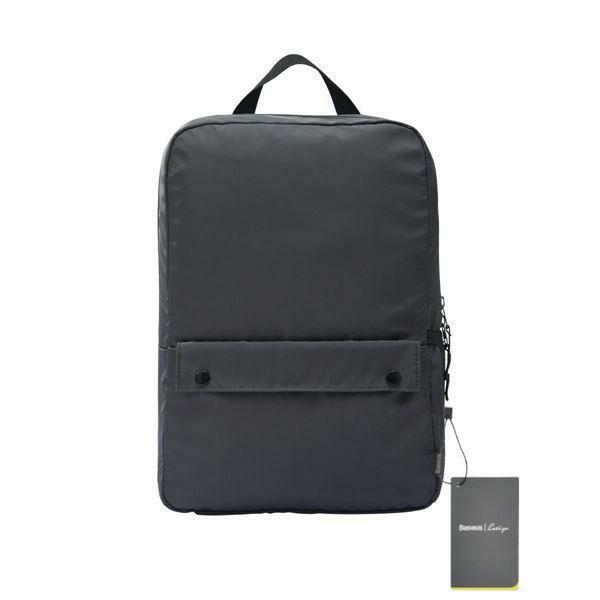 "Picture of Baseus Basics Series 16"" Computer Backpack Dark Grey"