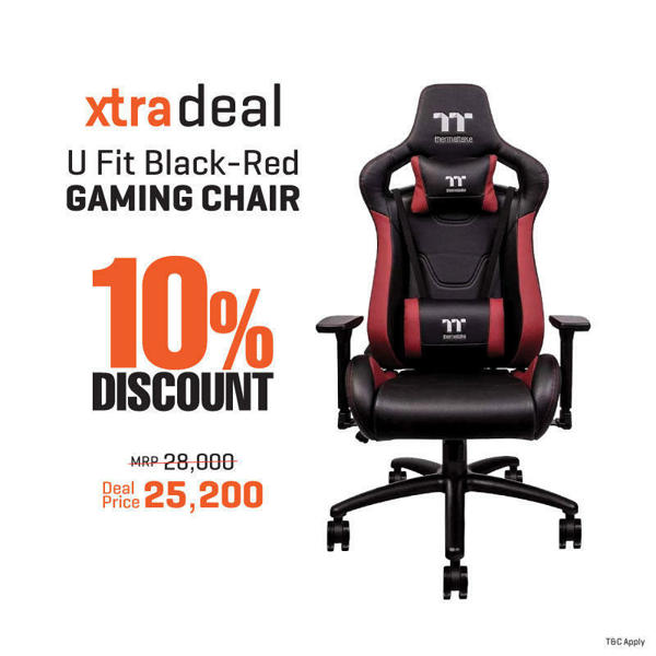 Picture of Thermaltake U FIT RED-BLACK Fit Gaming Chair