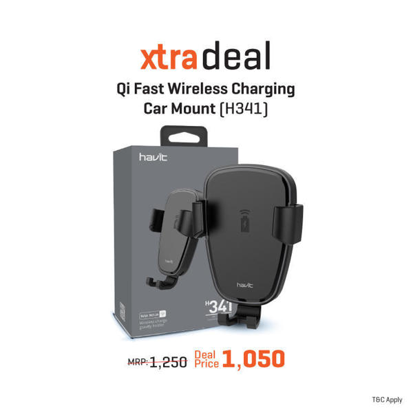 Picture of HAVIT Fast Wireless Charging Car Mount H341