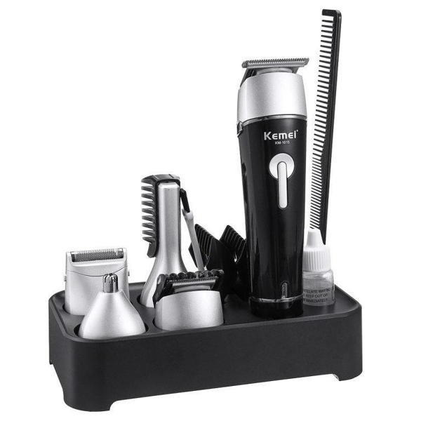 Picture of Kemei KM-1015 Professional Hair Clipper 5 In 1 Electric Washable Nose Ear Body Hair Trimmer