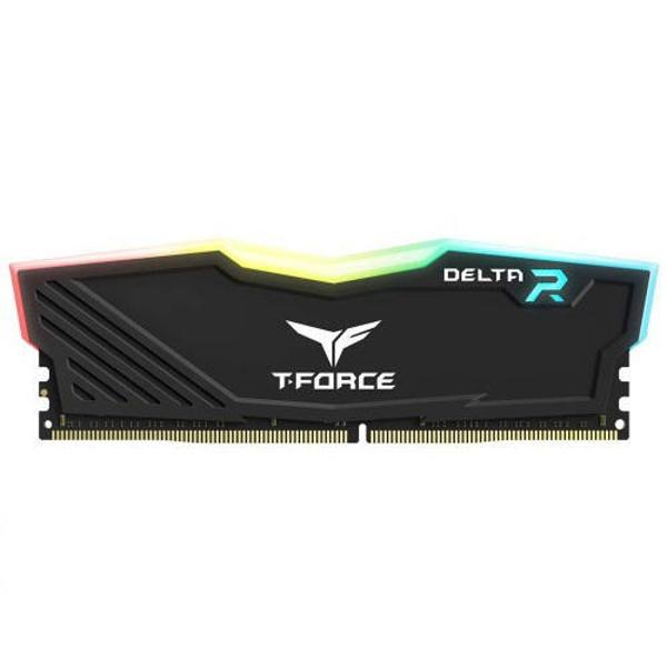 Picture of TEAM DELTA RGB BLACK 8GB 3200 MHz DDR4 RAM (TF3D416G3200HC16CDC01)