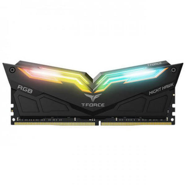 Picture of TEAM NIGHT HAWK BLACK 8GBx2 3200MHz RGB DDR4 RAM (TF1D416G3200HC16CDC01)