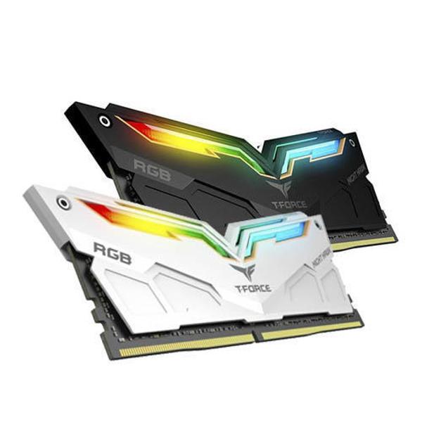 Picture of TEAM NIGHT HAWK BLACK 8GB 3600MHz RGB DDR4 RAM (TF1D416G3600HC18JDC01)