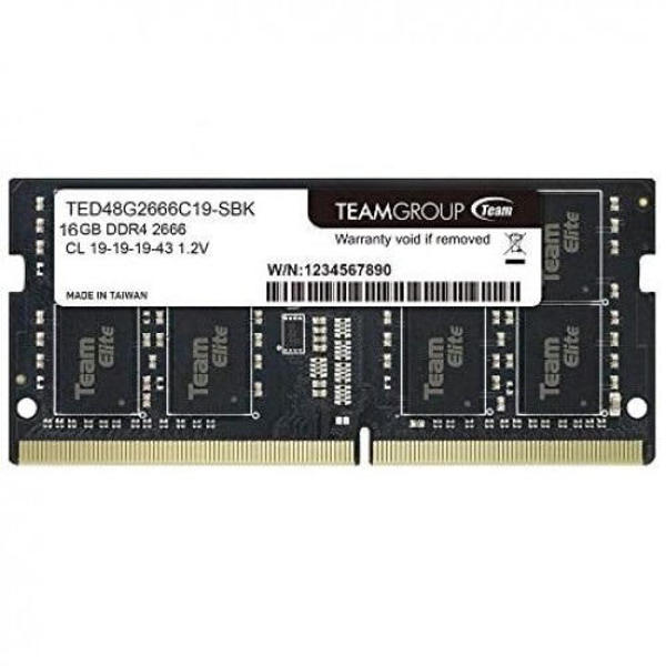Picture of TEAM ELITE 8GB 2666MHz  DDR4 LAPTOP RAM(TED48G2666C19-S01)