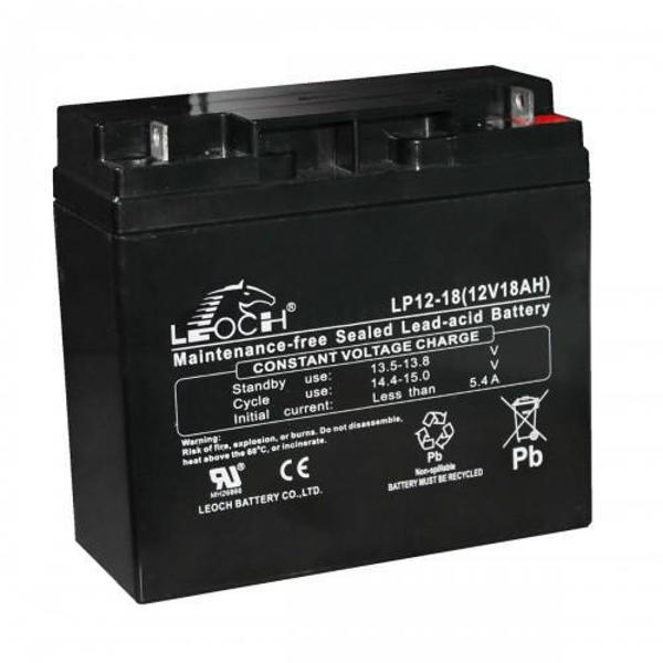Picture of Leoch LP12-18 (12V 18Ah) Sealed Lead Acid Battery