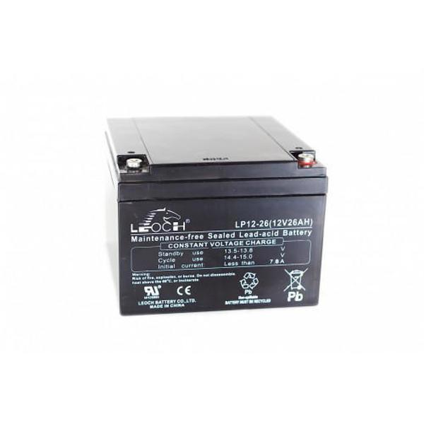 Picture of Leoch LP12-26 (12V 26Ah) Sealed Lead Acid Battery