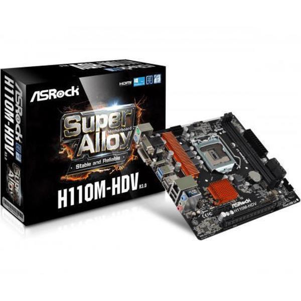 Picture of Asrock H110M-HDV R3.0 Super Alloy Micro ATX Motherboard