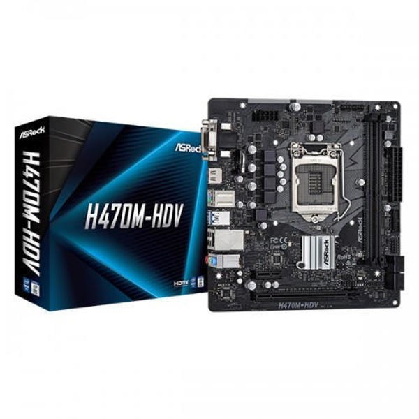 Picture of ASRock H470M-HDV 10th Gen Intel M-ATX Motherboard