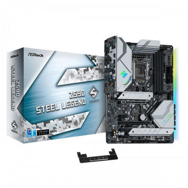 Picture of ASRock Z590 Steel Legend 10th and 11th Gen ATX Motherboard