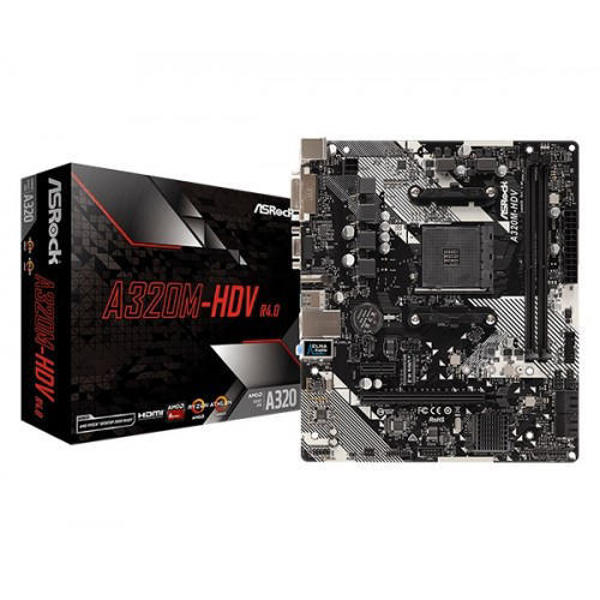 Picture of ASRock A320M-HDV R4.0 AMD Motherboard