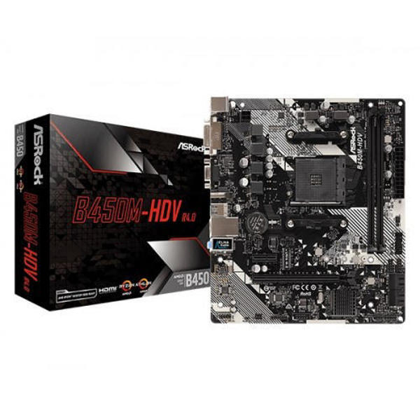 Picture of ASRock B450M-HDV R4.0 AMD Motherboard