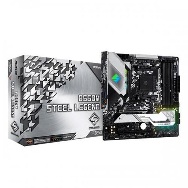 Picture of ASRock B550M Steel Legend DDR4 AMD Motherboard
