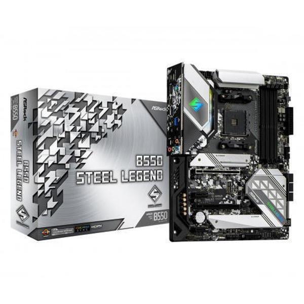 Picture of ASRock B550 Steel Legend DDR4 AMD AM4 ATX Motherboard