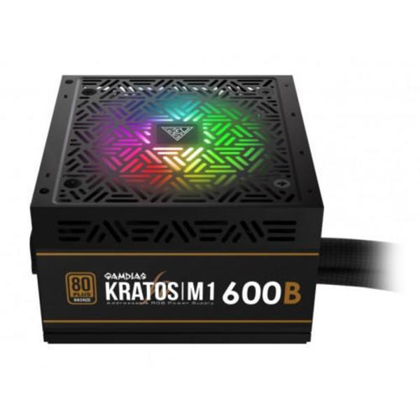 Picture of Gamdias Kratos M1-600B 600 Watt 80+ Bronze Addressable RGB Power Supply