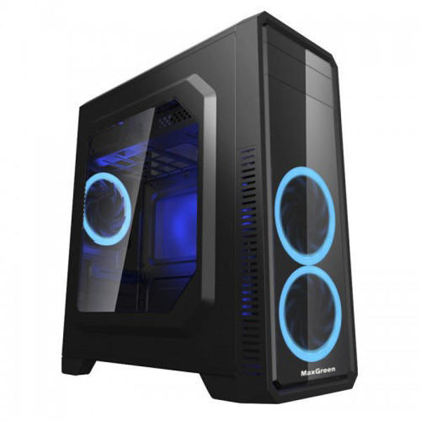 Picture of MaxGreen G561-F Blue Window ATX Casing