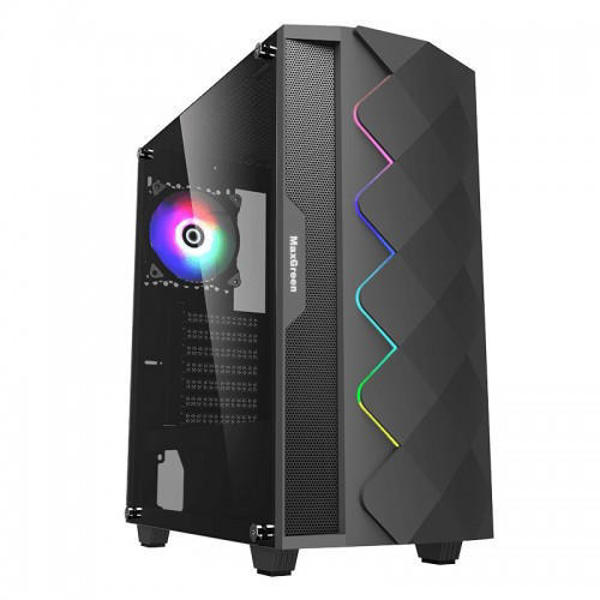 Picture of MaxGreen A361 RGB Mid Tower Case