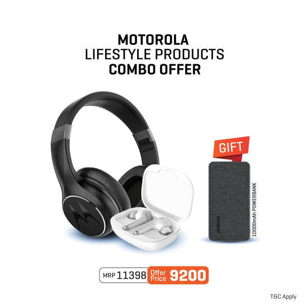 Picture of Combo: Motorola Escape 220 Wireless Headphones + Vervebuds 800 tws (White) + Energizer Power Bank (UE10043C)