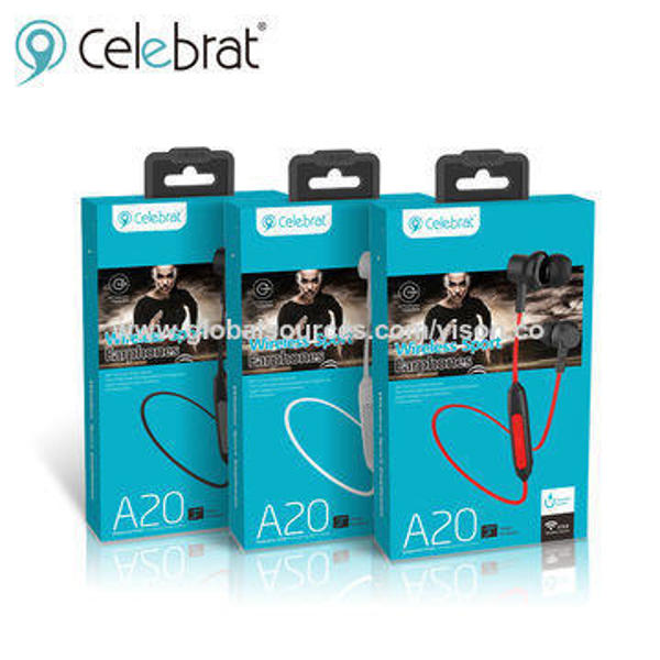 Picture of NEW Celebrat A20 Wireless Headphones Sports Earbuds for Running Built-in Mic