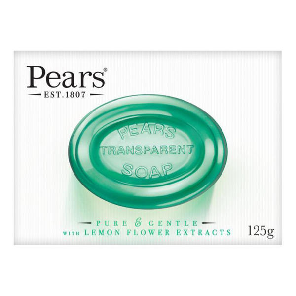 Picture of Pears Transparent  Soap Pure and Gentle with Lemon Flower Extracts 125gm