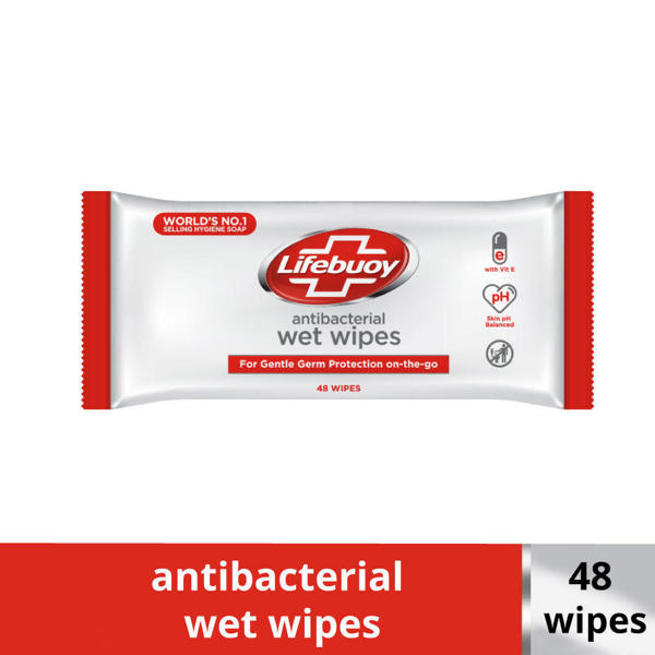 Picture of Lifebuoy Antibacterial Wet Wipes 48 Wipes