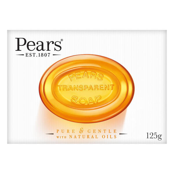 Picture of Pears Transparent  Soap Pure and Gentle with Plant Oils 125gm